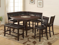 FULTON/HARRISON COUNTER HEIGHT DINING TABLE TOP 5 Piece Set