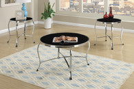 3PC 8MM TEMPERED GLASS TOP COFFEE TABLE SET