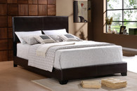 ERIN BLACK LEATHER BED FRAME MATTRESS AND BOXSPRING - 5271-M-SET