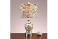 """PEARLIZED SWIRL PATTERNED BASE LAMP 23"""" H (2 LAMPS)"""
