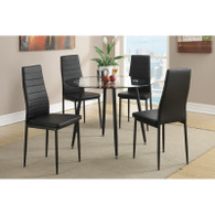 RETRO STYLE DINING ROOM SET 5PCS BLACK