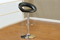 2PC SOLAR RING ADJUSTABLE SWIVEL BARSTOOL BLACK