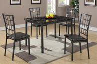 5-PCS MARBLE FINISH TABLE TOP DINING SET