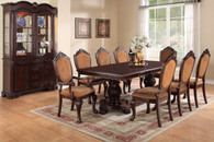 ROYALTY FLORAL ACCENTS 7 PCS FORMAL DINING ROOM SET