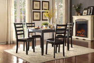 Contemporary 5pc Black Finish Dining Room Set