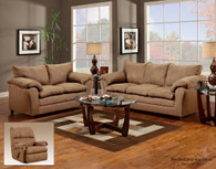 VICTORY LANE TAUPE MICRO-SUADE UPHOLSTERY  2 PCS SOFA AND LOVESEAT - 1150TA