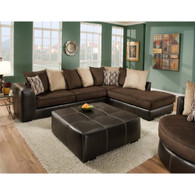 ALBANY 2PC SECTIONAL (MOCHA & CHOCOLATE)- E348CH