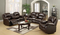 GAVIN 3PC MOTION LIVING ROOM SET (BROWN) - 10100BR
