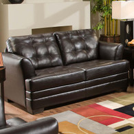 SIMMONS MANHATTAN TWIN SLEEPER SOFA (ESPRESSO)