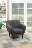 ACCENT CHAIR IN ASH BLACK COLOR