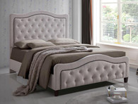 ANNA UPHOLSTERED TUFTED BED