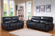 JORDAN 2PC SOFA AND LOVESEAT IN BLACK