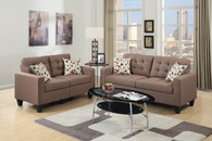 2-Pcs Sofa Set in Light Coffee