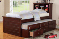 TWIN BED W/TRUNDLE CHERRY