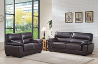 ORDAN 2PC SOFA AND LOVESEAT IN BROWN - CAMDEN - LVST