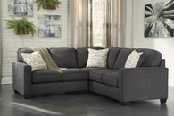 2 PCS Ashley-Charcoal Sectional Set -166-Sect-HH