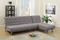 ADJUSTABLE SECTIONAL 2PC SOFA AND CHAISE SET TAUPE (GREY)