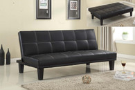 LANDON ADJUSTABLE SOFA BED IN BLACK