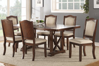 "DINING TABLE SOLID WOOD 16"" LEAF WITH UPHOLSTERED CHAIRS"