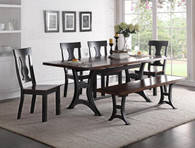 ASTOR WOOD CHAIRS Dining Table Top 5 Piece Set