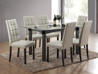 ZORA GREY DINING TABLE TOP 5 Piece Set