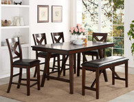 VERNON COUNTER HEIGHT DINING TABLE TOP 5 Piece Set