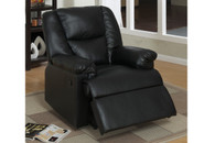 ROCKER RECLINER CHAIR UPHOLSTERED IN BLACK FAUX LEATHER