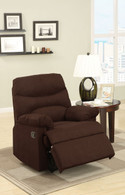 ROCKER RECLINER CHAIR UPHOLSTERED IN CHOCOLATE LINEN