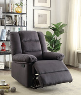 CHARMING EBONY ACCENT RECLINER CHAIR