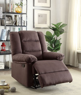 CHARMING CHOCOLATE ACCENT RECLINER CHAIR