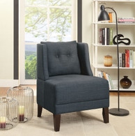 BLUE DORRIS FABRIC ACCENT CHAIR