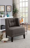 ASH BLACK DORRIS FABRIC ACCENT CHAIR