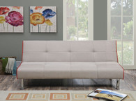 ADJUSTABLE SOFA UPHOLSTERED IN TAUPE LINEN