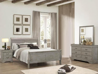 Louis Phillip 6Pcs Bedroom Suite - Grey
