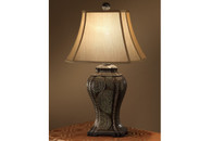 30-INCH POLYRESIN TABLE LAMP WITH SHADE SET OF 2