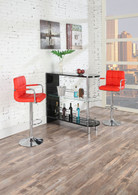 BLACK BAR STAND TABLE WITH ROUNDED SHELVING SPACE
