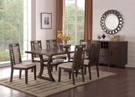 5PCS DINING TABLE SET W/ CURVED LEG SUPPORTS AND LOWER DISPLAY PLATFORM
