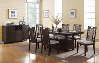 5PCS DINING TABLE SET W/ FUNCTIONAL LOWER DISPLAY SPACE