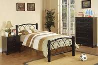 TWIN/FULL SIZE BED IN BLACK METAL FRAME
