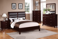 MASTER BEDROOM KING/QUEEN BED FRAME CHERRY WOOD FINISH
