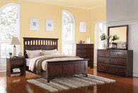 BEDFRAME PLATFORM IN DEEP ESPRESSO FINISH WITH WIDE PANEL