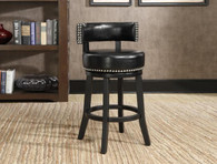 NATASHA SWIVEL COUNTER HEIGHT STOOL (SET OF 2) - 2799C-24-BK