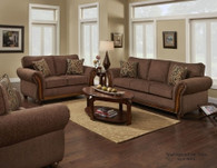 2PC WASHINGTON Delray Fudge Sofa and Loveseat Set - 8103DF