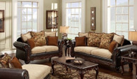 2PC Radar Sofa and Loveseat Set - 4300RA