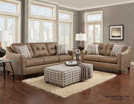 2PC WASHINGTON Sofa and Loveseat Set (OATMEAL) - 4843OAT