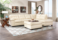 2PC SIMMONS SECTIONAL SOFA (Pearl) - 9569PE