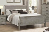 Louis Philip - Grey Sleigh Bed Frame