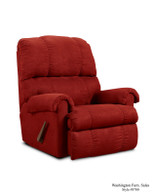 Red Microfiber Rocker Recliner - 8700 Red