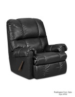 Denver Black Vinyl Rocker Recliner - 8700-Black