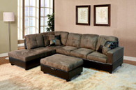 2 PCS Wyatt GREY SECTIONAL WITH ACCENT PILLOWS (RIGHT FACING SOFA) - F102A